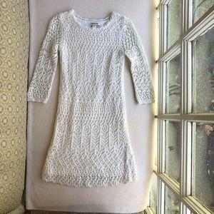 Cherokee Girls' Long Sleeve Crochet Dress